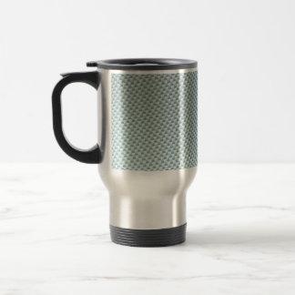 Light Colored Carbon Fiber Textured Travel Mug