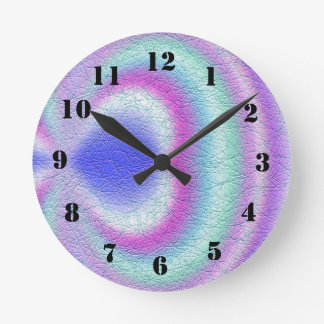 Light colored pattern of line round clock