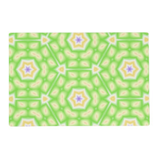 Light colored pattern placemat