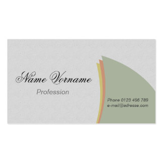 light colors Double-Sided standard business cards (Pack of 100)