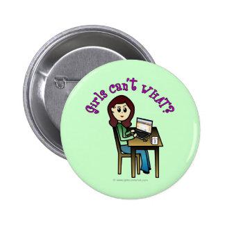 Light Computer Girl Button