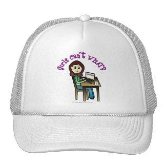Light Computer Girl Mesh Hat