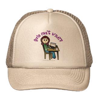 Light Computer Girl Trucker Hats