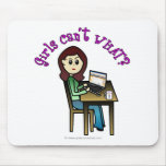 Light Computer Girl Mouse Pad