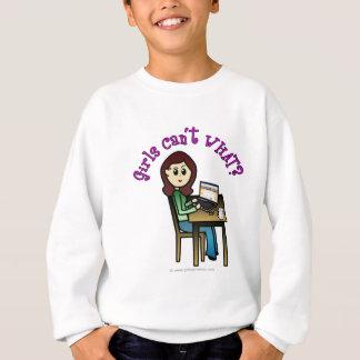 Light Computer Girl Sweatshirt