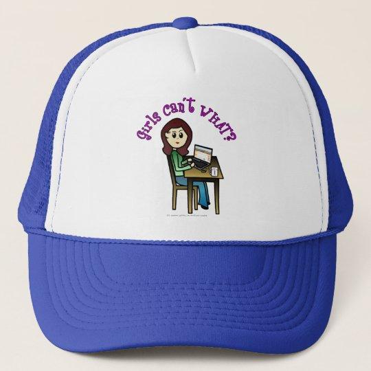 Light Computer Girl Trucker Hat