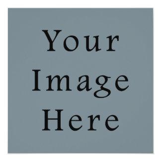 Light Confederate Blue Grey Trend Color Gray Blank 5.25x5.25 Square Paper Invitation Card