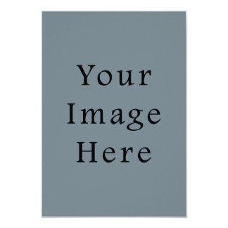 Light Confederate Blue Grey Trend Color Gray Blank 3.5x5 Paper Invitation Card