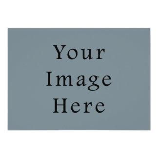 Light Confederate Blue Grey Trend Color Gray Blank 5x7 Paper Invitation Card