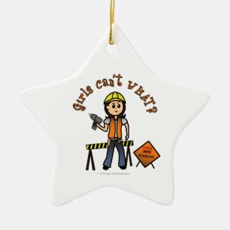 Light Construction Girl Christmas Tree Ornament