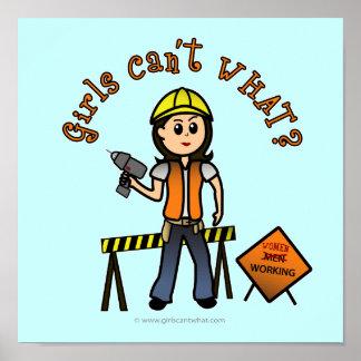 Light Construction Girl Poster