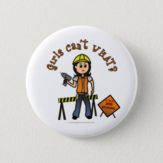Light Construction Pinback Button