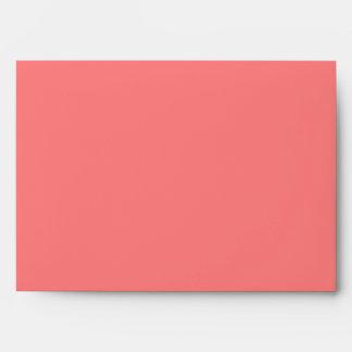 Light Coral A7 Envelope