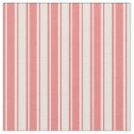 [ Thumbnail: Light Coral and Beige Lined/Striped Pattern Fabric ]