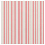 [ Thumbnail: Light Coral and Beige Stripes Fabric ]