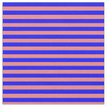 [ Thumbnail: Light Coral and Blue Lines/Stripes Pattern Fabric ]