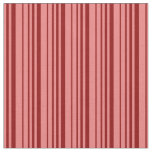 [ Thumbnail: Light Coral and Dark Red Lined/Striped Pattern Fabric ]