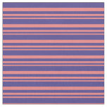 [ Thumbnail: Light Coral and Dark Slate Blue Pattern Fabric ]