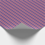 [ Thumbnail: Light Coral and Dark Slate Blue Stripes Wrapping Paper ]