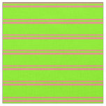 [ Thumbnail: Light Coral and Green Colored Lines Fabric ]