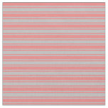 [ Thumbnail: Light Coral and Grey Colored Lines Fabric ]