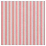 [ Thumbnail: Light Coral and Light Grey Colored Stripes Fabric ]