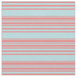 [ Thumbnail: Light Coral and Powder Blue Colored Pattern Fabric ]