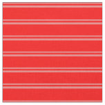 [ Thumbnail: Light Coral and Red Colored Stripes Fabric ]