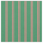 [ Thumbnail: Light Coral and Sea Green Lines/Stripes Pattern Fabric ]