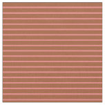 [ Thumbnail: Light Coral and Sienna Colored Pattern of Stripes Fabric ]