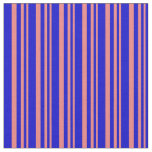 [ Thumbnail: Light Coral & Blue Colored Lines Fabric ]
