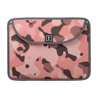 Light Coral Camo; Camouflage Sleeve For MacBook Pro