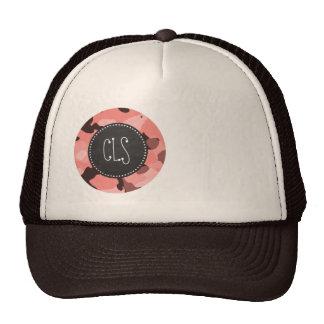 Light Coral Camo; Retro Chalkboard Mesh Hat