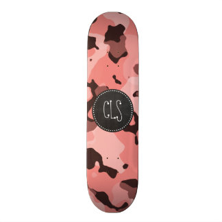 Light Coral Camo; Retro Chalkboard Skateboards