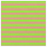 [ Thumbnail: Light Coral & Chartreuse Colored Lines Fabric ]