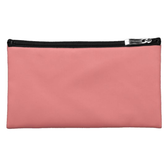 Light Coral Cosmetic Bag