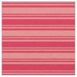 [ Thumbnail: Light Coral & Crimson Colored Lines Fabric ]
