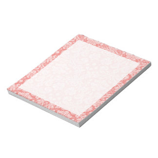 Light Coral Damask Note Pad