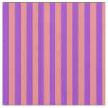 [ Thumbnail: Light Coral & Dark Orchid Colored Stripes Fabric ]