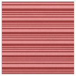 [ Thumbnail: Light Coral & Dark Red Colored Stripes Fabric ]