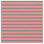 [ Thumbnail: Light Coral & Dim Gray Colored Lines Fabric ]