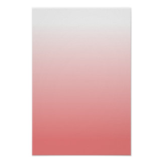 Light Coral Gradient Poster