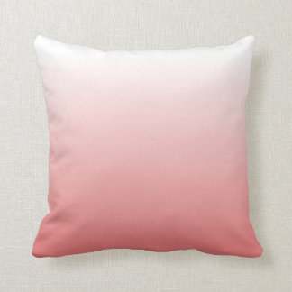 light coral gradient throw pillow
