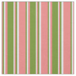 [ Thumbnail: Light Coral, Green & Lavender Colored Pattern Fabric ]