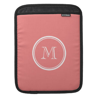 Light Coral High End Colored Monogram iPad Sleeves
