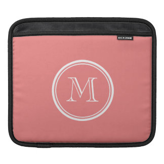 Light Coral High End Colored Monogram Sleeves For iPads