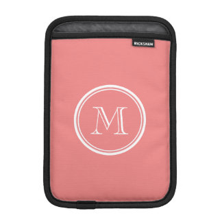 Light Coral High End Colored Monogram iPad Mini Sleeves