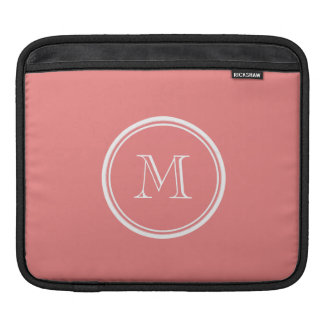 Light Coral High End Colored Monogram Sleeve For iPads