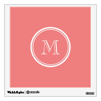 Light Coral Wall Decals Wall Stickers Zazzle - Coral monogram wall decal