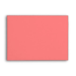 Light Coral Keep Calm and Carry On Envelope